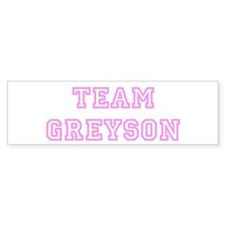 Pink team Greyson Bumper Bumper Sticker