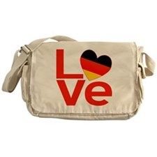 Red German LOVE Messenger Bag