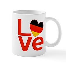 Red German LOVE Small Mug