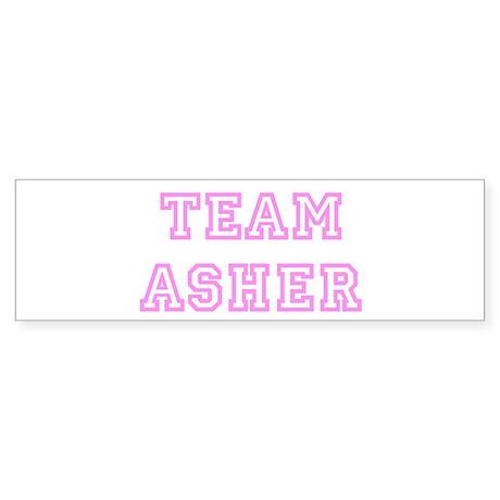 Pink team Asher Bumper Sticker