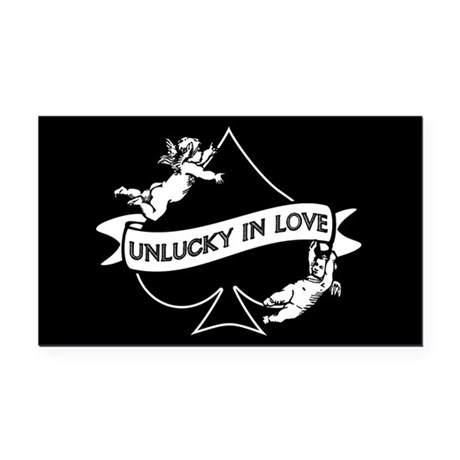 Unlucky In Love Rectangle Car Magnet