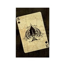 Ace Of Spades Rectangle Magnet