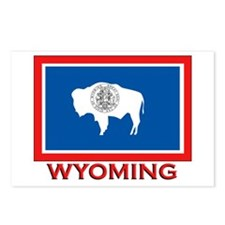 Wyoming Flag Merchandise Postcards (Package of 8)