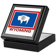 Wyoming Flag Merchandise Keepsake Box