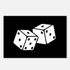 Retro Dice Postcards (Package of 8)
