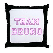 Pink team Bruno Throw Pillow