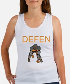Football Defense Women's Tank Top