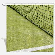 Tennis Net Shower Curtain