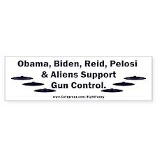 Dems and Aliens Bumper Sticker
