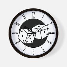 Retro Dice Wall Clock