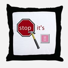 Stop, it's hammertime! Throw Pillow