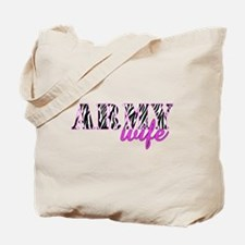 Army Wife Zebra Tote Bag