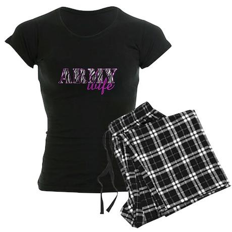 Army Wife Zebra Women's Dark Pajamas