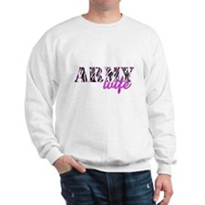 Army Wife Zebra Sweatshirt