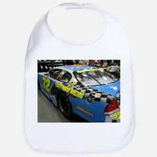 Checker Blue 72 Racing Car Bib