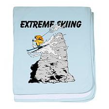 Extreme Skiing baby blanket