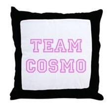 Pink team Cosmo Throw Pillow
