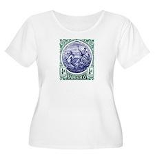 1916 Barbados Neptune Postage Stamp T-Shirt