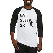Eat Sleep Ski Baseball Jersey
