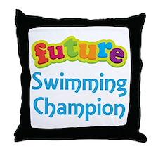 Future Swimming Champion Throw Pillow