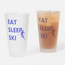 Eat Sleep Ski Drinking Glass