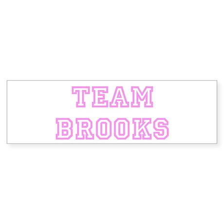 Pink team Brooks Bumper Sticker