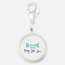 No Talking Pretty Little Liars Silver Round Charm