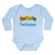 Future Swimmer Long Sleeve Infant Bodysuit