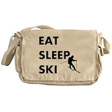 Eat Sleep Ski Messenger Bag
