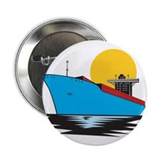 "Container Ship Cargo Boat Retro 2.25"" Button"