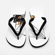 Construction Crane Hoist Retro Flip Flops
