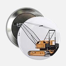 """Construction Crane Hoist Retro 2.25"""" Button"""