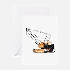 Construction Crane Hoist Retro Greeting Card