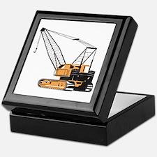 Construction Crane Hoist Retro Keepsake Box