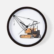 Construction Crane Hoist Retro Wall Clock