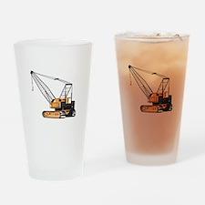 Construction Crane Hoist Retro Drinking Glass