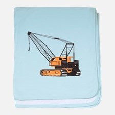Construction Crane Hoist Retro baby blanket
