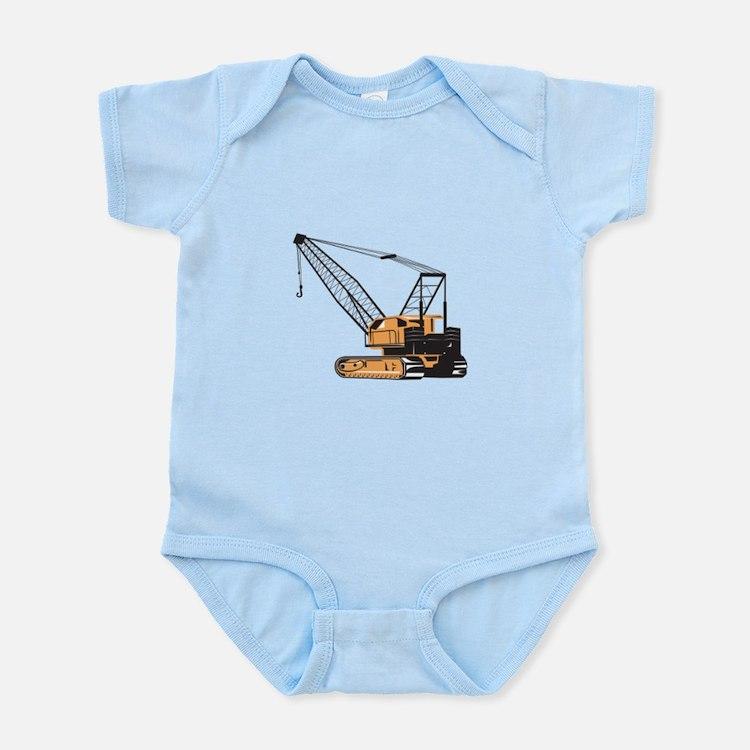 Construction Crane Hoist Retro Infant Bodysuit