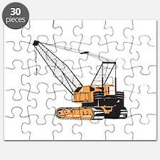 Construction Crane Hoist Retro Puzzle