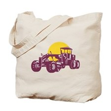 Vintage Road Grader Retro Tote Bag