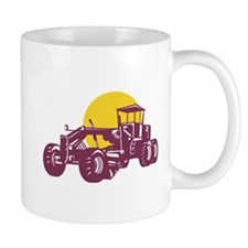 Vintage Road Grader Retro Mug