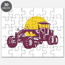 Vintage Road Grader Retro Puzzle