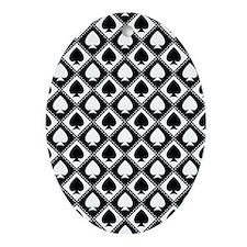 Spades Pattern Ornament (Oval)