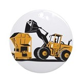 Front end loader Round Ornaments