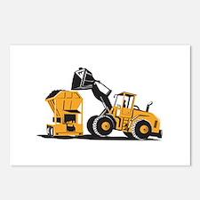 Front End Loader Digger Excavator Retro Postcards