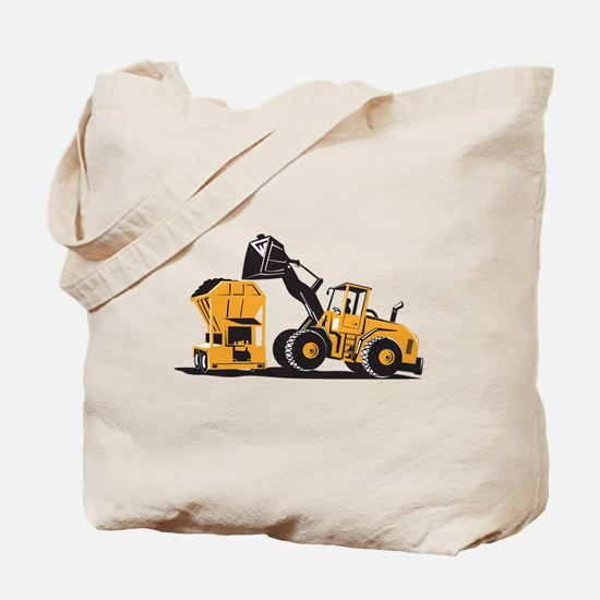Front End Loader Digger Excavator Retro Tote Bag