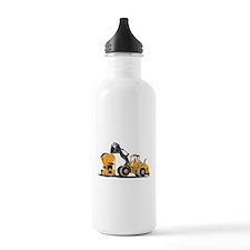 Front End Loader Digger Excavator Retro Water Bottle