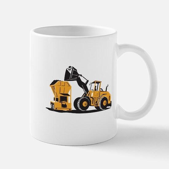 Front End Loader Digger Excavator Retro Mug