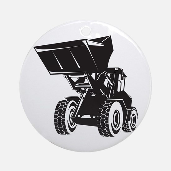 Front End Loader Digger Excavator Retro Ornament (