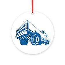 Pickup Truck Rear Retro Ornament (Round)